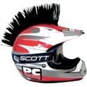 Crete NOIR Mohawk pour casque moto PC Racing