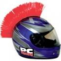 Crete ROUGE Mohawk pour casque moto PC Racing