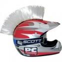 Crete BLANCHE Mohawk pour casque moto PC Racing