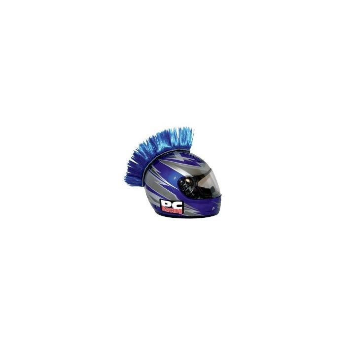 crete bleue mohawk pour casque moto pc racing motofun. Black Bedroom Furniture Sets. Home Design Ideas