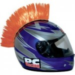 Crete ORANGE Mohawk pour casque moto PC Racing