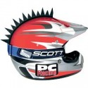 Crete NOIR Jagged pour casque moto PC Racing