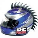 Crete NOIR Saw pour casque moto PC Racing