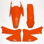 UFO KIT PLASTIQUES pour KTM SX-SXF 2T/4T 05-06 (KTKIT-503) ORANGE