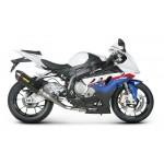 BMW S1000RR 09-13 - Ligne complete Racing line 1x silencieux Hexagonal carbon. Pas homologué. (Avec collecteur Inox)