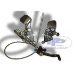 HONDA CBR 1000 RR (08-09) - PPTUNING Commande Reculée Ajustable, boite Inversée incl. durite avia. frein arr.