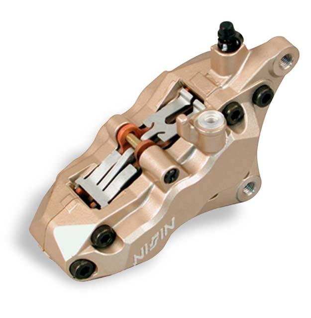 etrier de frein moto nissin 6 pistons entraxe 90mm montage axial motofun. Black Bedroom Furniture Sets. Home Design Ideas