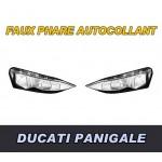 DUCATI 1199 PANIGALE FAUX PHARES AUTOCOLLANTS - 3647