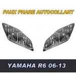 YAMAHA R6 06-13 FAUX PHARES AUTOCOLLANTS - 3646