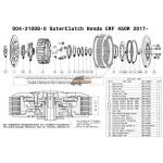 Suter clutch - Black plate 004-21722 - pièces détachées