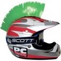 Crete VERT Mohawk pour casque moto PC Racing