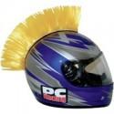 Crete JAUNE Mohawk pour casque moto PC Racing