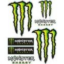 Monster Energy - Sticker/Autocollant Medium 14x16cm
